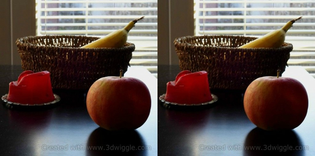fruit on the table 3dwiggle example