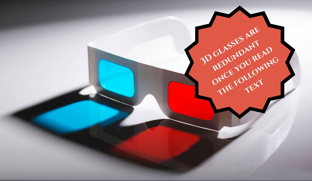 3D glasses not required stamp