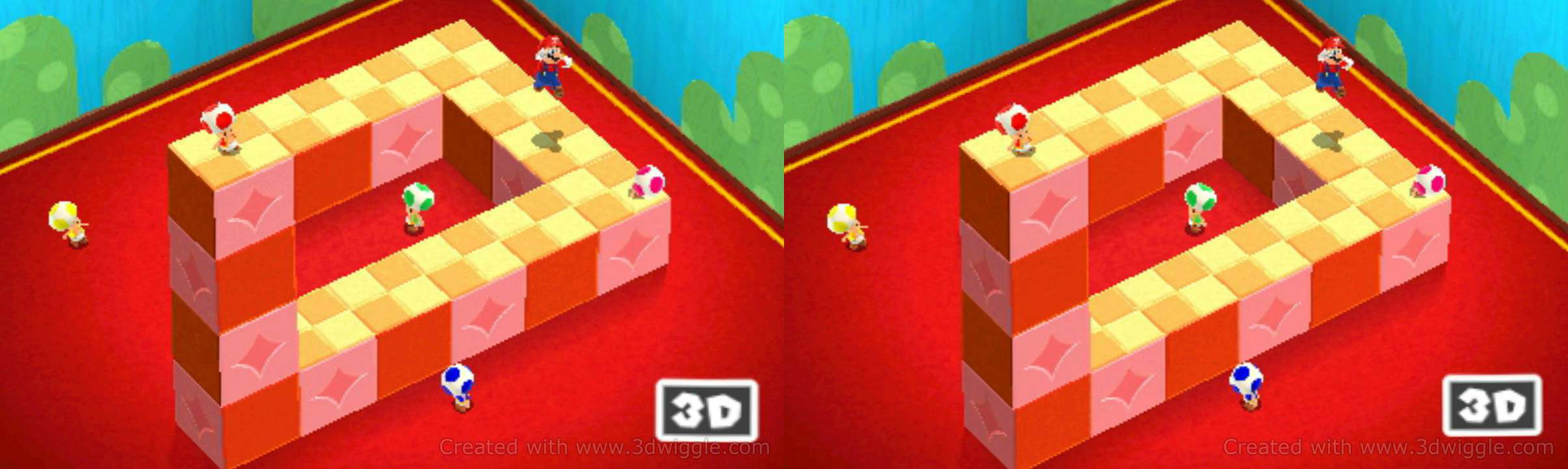 Mario 3D land, Nintendo in-game screenshot, 3dwiggle